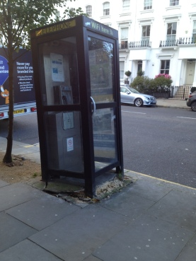 The Leaning Phone Box of Worlds End