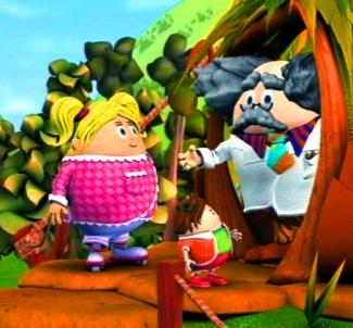 Beep-Beep, Teeny-Beep and Brainy-Beep discussing the weather!