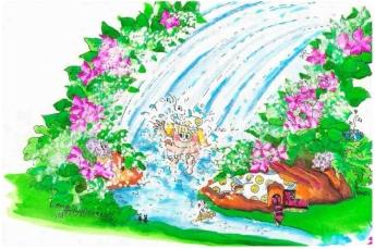 "MB Original drawing""Washingfall"""