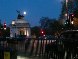 New Moon over Hyde Park Corner