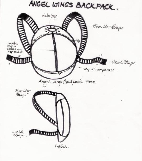 MB Original Angels of Jarm Backpack outline idea