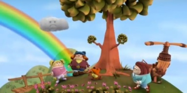 Look! Drozzle made a rainbow by watering his violets!