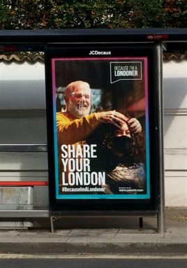 Lockdown bus stop advert