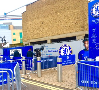 FILMING TV INTERVIEW AT CHELSEA FC 1