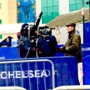 FILMING TV INTERVIEW AT CHELSEA FC 3
