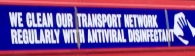 ANTIVIRAL DISINFECTED LONDON BUSES!