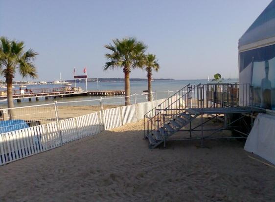 Buyers Club on the beach beside MIP Palais de Festivals Cannes April 2007