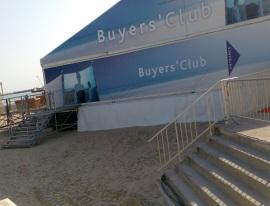Buyers Club on the beach beside Palais de Festivals Cannes April 2007