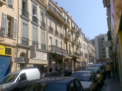 Street behind La Croisette. Cannes April 2007