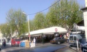 Street Market behind La Croisette. Cannes April 2007