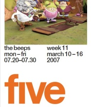 The Beeps Channel 5 Front Cover TV Listings