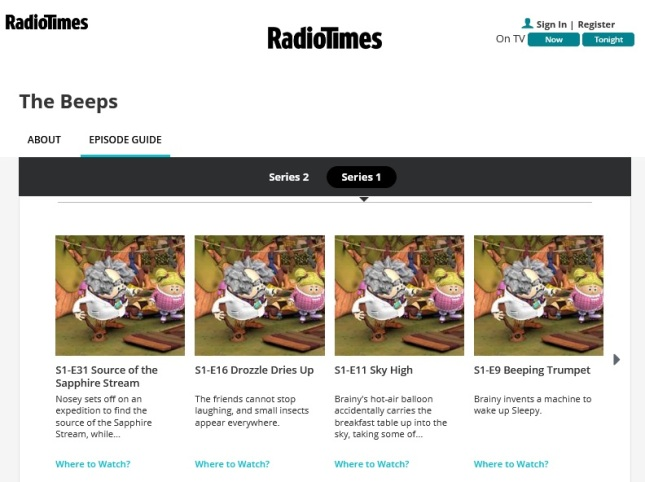 The Beeps Series and Episode Guide RadioTimes