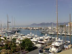 View from Southern Star Private Terrace MIP Palais de Festivals
